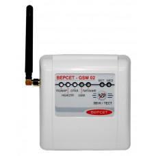 Прибор приёмно-контрольный охранно-пожарный GSM охраны «ВЕРСЕТ– GSM 02»